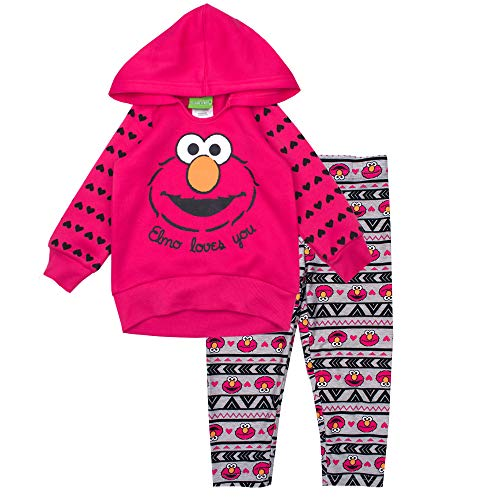Sesame Street Girls Hoodie Set Hoodie & Legging Set (Red, 12M) ()