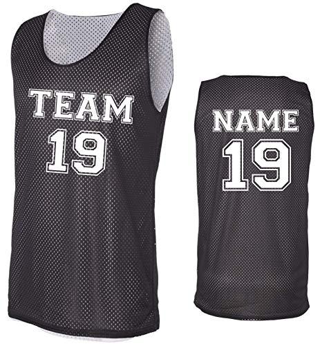 Custom Basketball Tank Tops- Make Your OWN Jersey - Personalized Team Uniforms (Black, Medium)