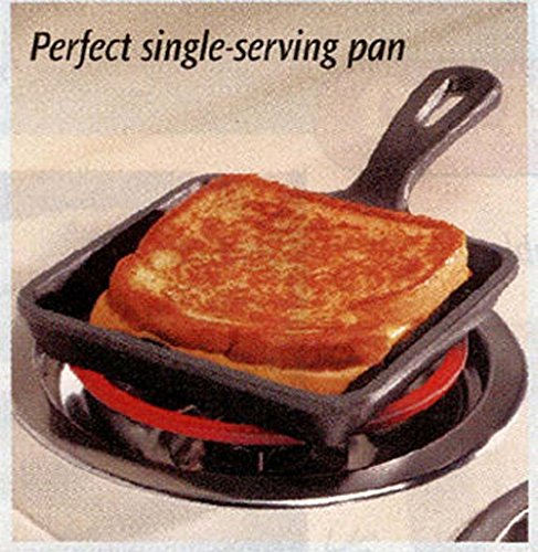 CLASSIC CAST IRON SQUARE SKILLET - Square Bacon Frying Pan