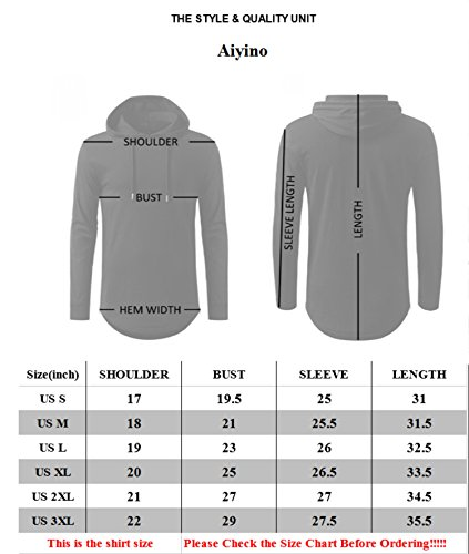 AIYINO Mens Hipster Hip Hop Short Sleeve Longline Pullover Hoodies Shirts (US S, 01 Black)