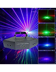 Dj Llight,six-Eye Led Scanning Beam Pattern Light with Voice Control/self-propelled/DMX Control Stage Strobe Lighting for Birthday Friend Party Disco Bar