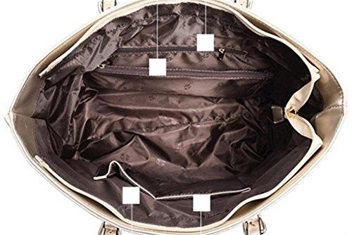 De Paquet Messager Unique Loisirs Shoutibao Pièces Sac Mode Femelle Bandoulière Gold À Trois Main 5FqdwqUx6