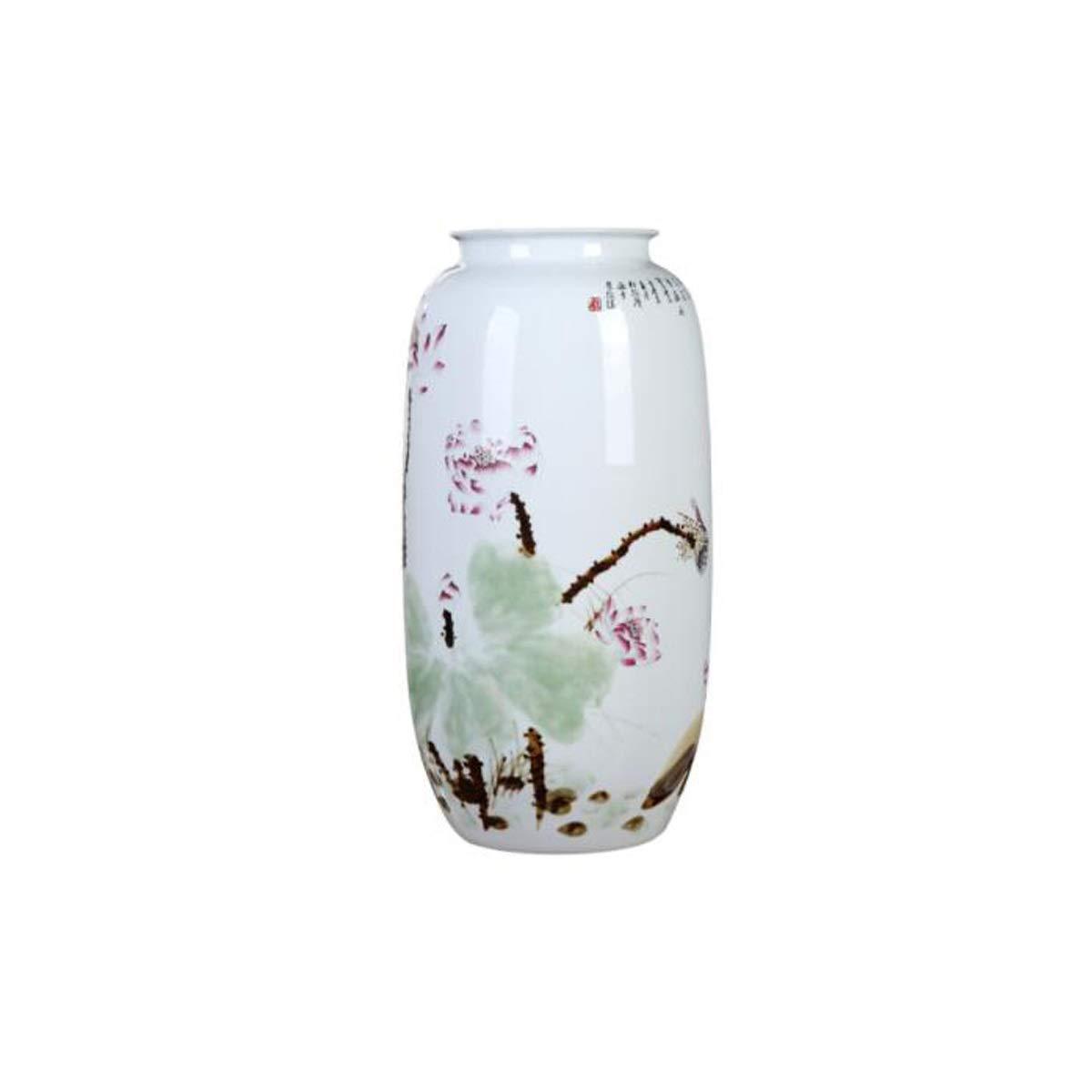 SHENGSHIHUIZHONG 花瓶の装飾、景徳鎮のセラミック装飾品、手描きの窯可変蓮の大花瓶、新しい中国風のリビングルームのポーチの装飾品 中華風 (Color : Multi-colored) B07STSXQ2Q Multi-colored