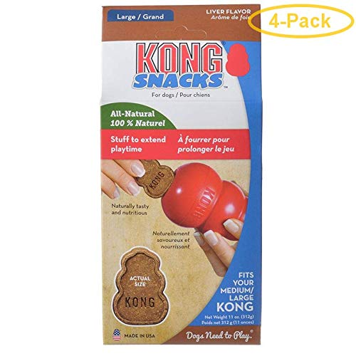 KONG Stuff'n Snacks - Liver Recipe Large - 11 oz - Pack of - Kong Liver Stuffn