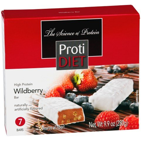 Protidiet Wildberry Flavor High Protein Bars (Box of 7)