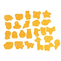 Ackful🍁Kids Baby Wooden Wood Animal Cognition Puzzle Fruit Learning Educational Toy (A)