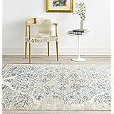 4620 Distressed Cream 7'10x10'6 Area Rug Carpet Large New
