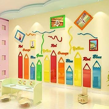 amazon com ettazxv crayon creative kindergarten wall decoration