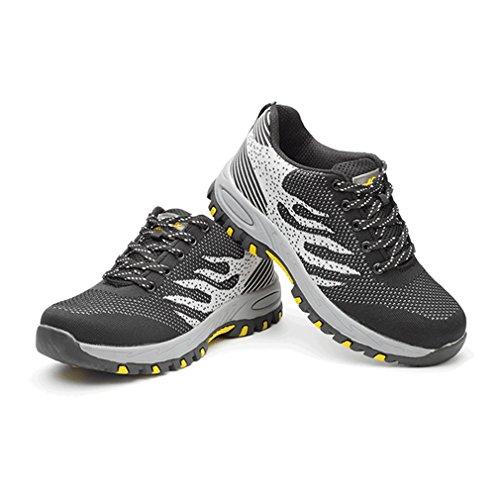 para Ligeras Comodas Zapatillas Unisex Seguridad para Hombre Negro Adulto Trabajo de Calzado de FxpxnfwIvH