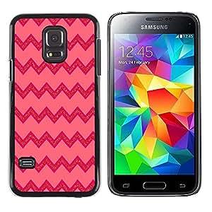 Be Good Phone Accessory // Dura Cáscara cubierta Protectora Caso Carcasa Funda de Protección para Samsung Galaxy S5 Mini, SM-G800, NOT S5 REGULAR! // Pink Lines Pattern Zig Zag