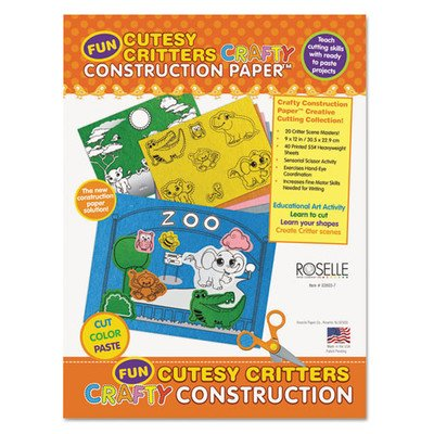 Cutesy Critters Crafty Printed Construction Paper Pad