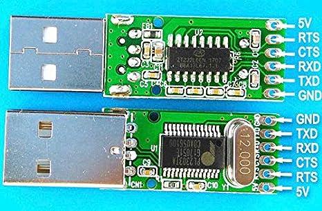 3-TXD 7-RTS 8-CTS Pl2303TA USB RS232/zu DB9/Kabelgebundenes Rollover-Nullmodem-Kabel Standard pinout: 2-RXD 5-GND
