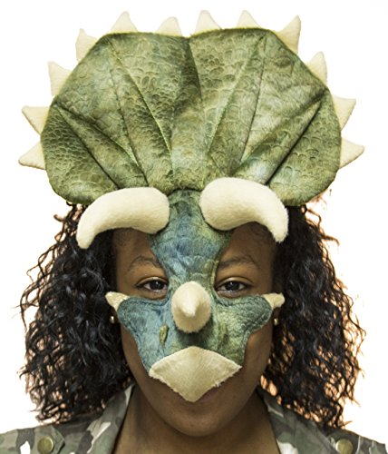 Unisex Adult Triceratops Mask with Headband