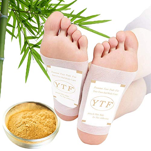 Foot Pads – (60Pads) Ginger Foot Pads for Better Sleep and Anti-Stress Relief, Pure Natural Bamboo Vinegar and Ginger…