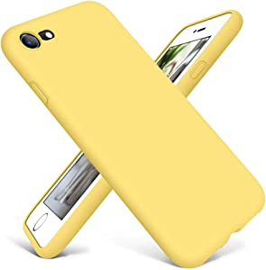 DTTO Compatible with iPhone SE Case 2020,iPhone 7 8 Silicone Phone Case, [Romance Series] Shockproof Anti-Drop Phone Case with Honeycomb Grid Cushion for iPhone 7/8/SE 2020, 4.7 inch (Yellow)