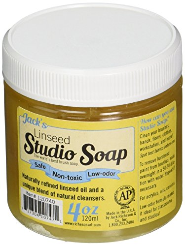 Jack Richeson 120740 120 ml Linseed Studio Soap (Linseed Jacks Soap Studio)