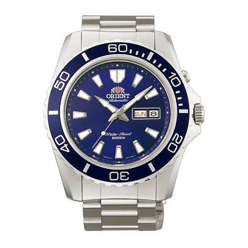 Orient #FEM75002D Men's Mako XL Stainless Steel Blue Dial Automatic Dive Watch