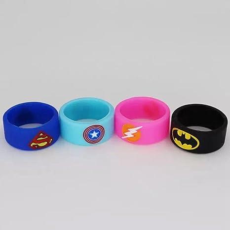 9c1d16fad41969 Silicone Superhero Vape Bands Tank Band Rings Batman Superman Flash Captain  America (Mix (Pack of 4))  Amazon.co.uk  Health   Personal Care