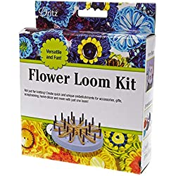 Flower Pattern Knitting Loom Kit Knitting Kit Includes Flower Design Instructions, Knitting Loom, 60 Removable Pegs, and Plastic Needle