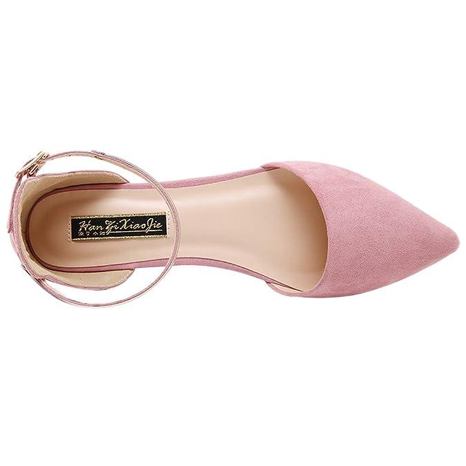 7b8a89be279ba1 Jamron Damen Spitze Fesselriemen Samt Ballerinas Elegant D orsay Pumps  Flach Abendschuhe  Amazon.de  Schuhe   Handtaschen