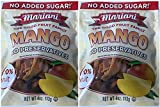 Mariani Dried Mangoes TWO 4 oz Resealable Packages No Preservatives No Sugar Added