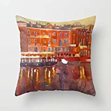 Pillow Covers Of Watercolor 20 X 20 Inches / 50 By 50 Cm Best Fit For Chair Outdoor Adults Festival Home Office Club Double Sides