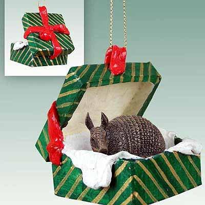 Armadillo Gift Box Christmas Ornament - DELIGHTFUL!