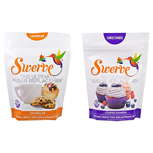 Make No Flour, No Sugar Crepes with Swerve Sweetener, Bakers Bundle, 12 Ounce Granular & Confectioners