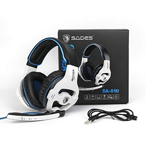 PC PS4 XBOX ONE Gaming Headsets, SADES 810W 3.5mm Over the ear Gaming Headphones with Mic Volume Control by Sades
