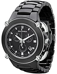 CALABRIA - Sottomarino Collection - ABISSO - Hi-Tech Ceramic and Silver Tone Chronograph Mens Watch