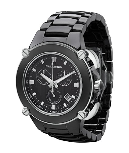 CALABRIA - Sottomarino Collection - ABISSO - Hi-Tech Ceramic and Silver Tone Chronograph Men's Watch