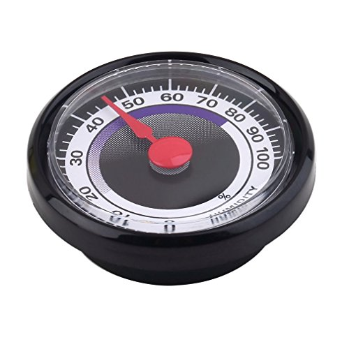 Price comparison product image Dikley Hygrometer Round Analog Hygrometer Mechanical Hygrometer Humidity Gauge Indoor Outdoor Humidity Meter for Food Container Refrigerator Greenhouse