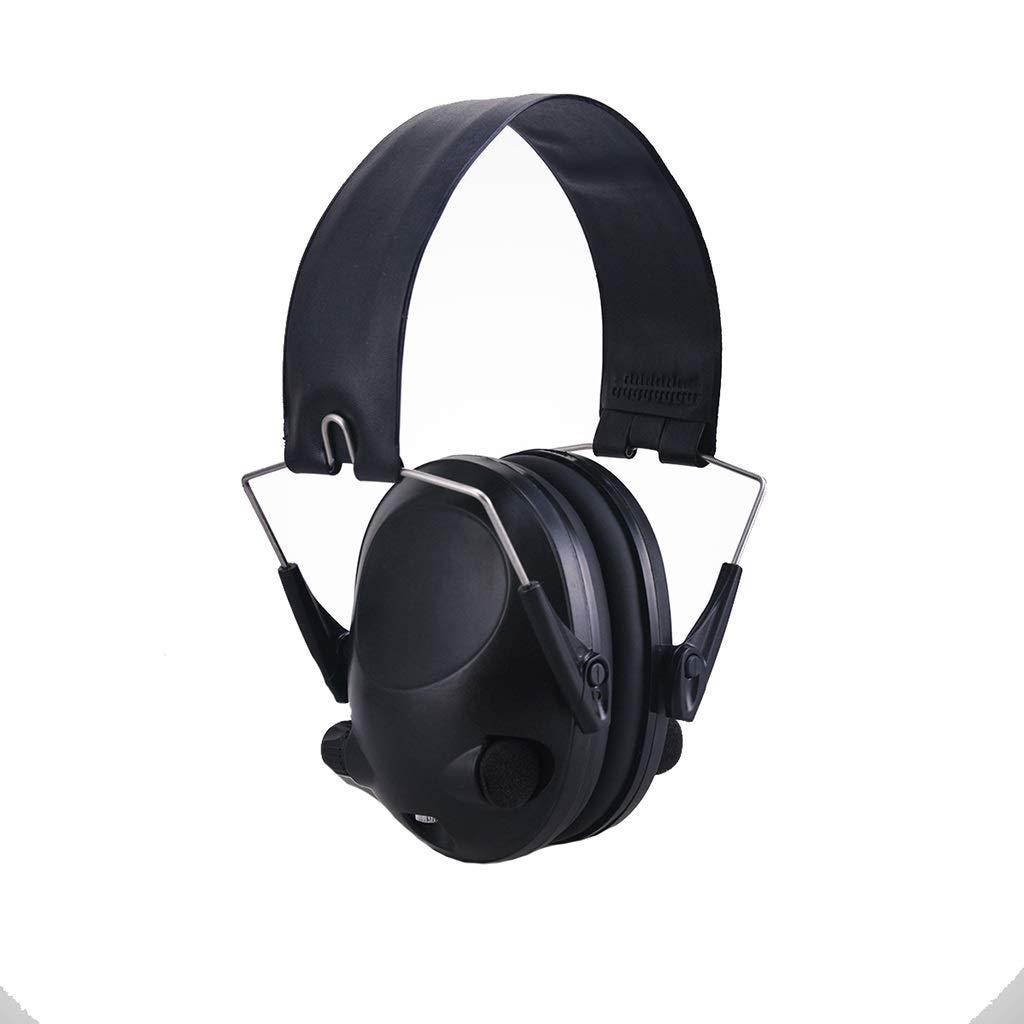Noise Cancelling Earphones, Head-Mounted Adult Sponge Noise-reducing Earmuffs Portable Ear Protectors (Color : Black)