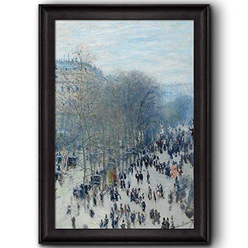 Boulevard des Capucines by Claude Monet Framed Art