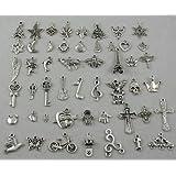 Wholesale 50pcs Bulk Lots Tibetan Silver Plated Mixed Pendants Charms Jewelry