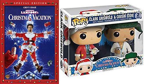 National Lampoon's Bundle: Clark Griswold & Cousin Eddie Figures + Special Edition Christmas Vacation (DVD & Collectable Vinyl Figure Scene Bundle)