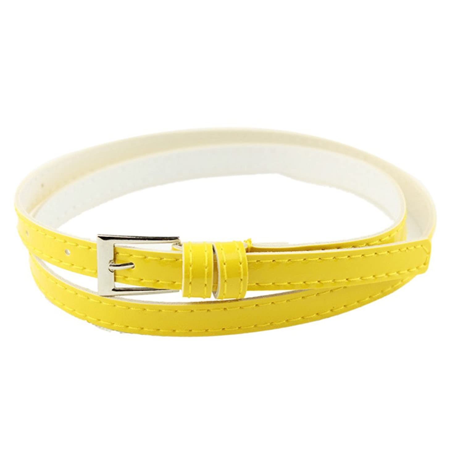 Sunward Woman Multicolor Small Candy Color Thin Leather Belt Ms Belt