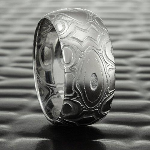 Damascus Steel Premium Patterned Ring| DIAMONDBACK