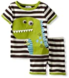 Mud Pie Baby Boys' Dinosaur Short Pajama Set, Multi, 6 9 Months