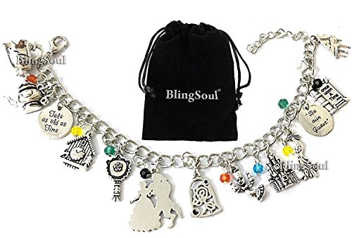 Beast Beauty Charm Bracelet - Belle Emma Watson costume Jewelry Merchandise Girls -