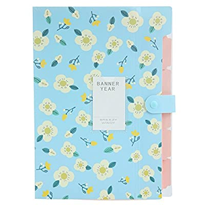 Skydue Floral Printed Accordion Document File Folder Expanding Letter Organizer
