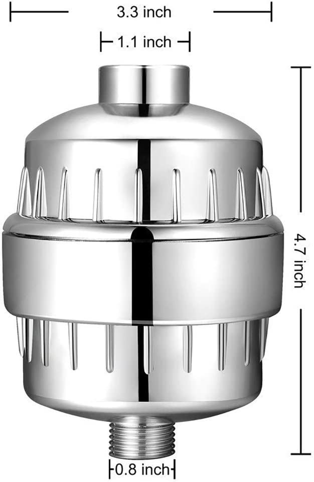 Water Purifier and Scaling. Ulable Shower Filter Itching Removes Chlorine and Fluoride; Reduce Dryness