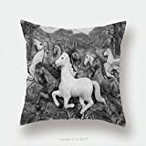 Custom Satin Pillowcase Protector Low Relief Cement Thai Style Handcraft Of Horse On Wall 209528587 Pillow Case Covers Decorative