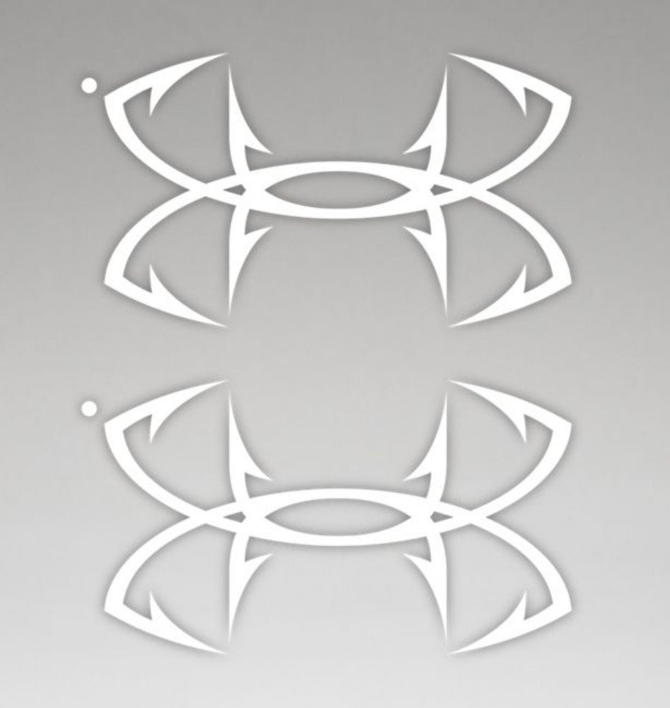 c2bf19219957 Galleon - Under Armour UA Fish Hook Logo Emblem Decal - 2 Pack One ...