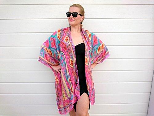 ... Pink Paisley Kimono Robe 6801c4b68