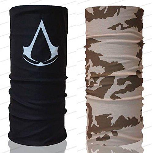 Assassin's Creed and Camo UV Protection Fishing Mask Scarf Bandana Headband Headwear 150164 Biker Bb Gun Angler Extreme Motocross by Tamegems