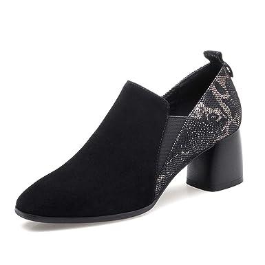 Zapatos De Otoño New Square Head Para Mujer, Tacón Grueso