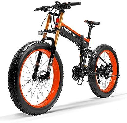 LANKELEISI Nueva T750Plus Bicicleta de eléctrica, Bicicleta de ...
