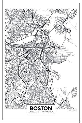 EzPosterPrints - World Famous City Map Posters - Decorative Travel Poster Printing - Wall Art Print for Home Office - Boston - 24X36 - Boston Wall Usa