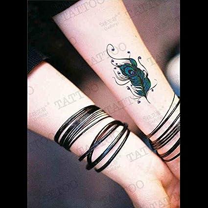 Zokey Impermeable Tatuaje Temporal Plumas Del Pavo Real De Color